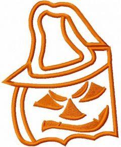 Halloween pumpkin 8 embroidery design