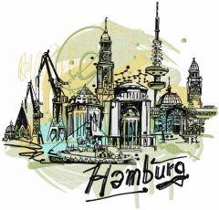 Hamburg embroidery design