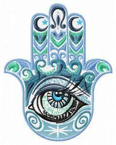 Hamsa with eye embroidery design