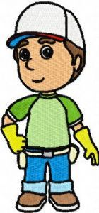 Handy Manny 1 embroidery design