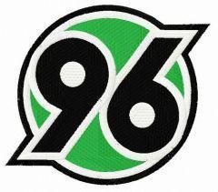 Hannover 96 logo embroidery design