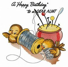 A Happy Birthday to a DEAR AUNT embroidery design
