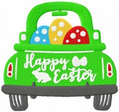 Happy Easter car embroidery design