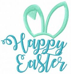 Happy Easter 9 embroidery design