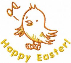 Happy Easter song embroidery design