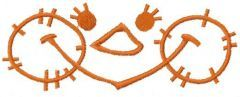 Happy face free embroidery design 7