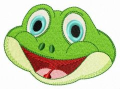 Happy frog 2 embroidery design