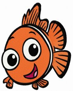 Happy Nemo embroidery design