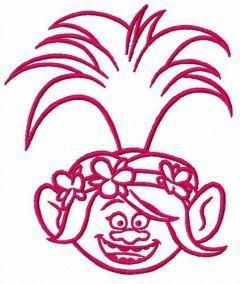 Happy Poppy embroidery design