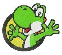 Happy Yoshi badge embroidery design