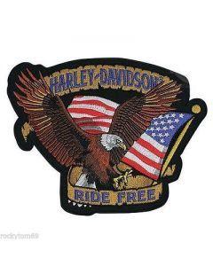 Harley Davidson ride free embroidery design