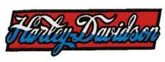 Harley-Davidson retro style wordmark logo embroidery design