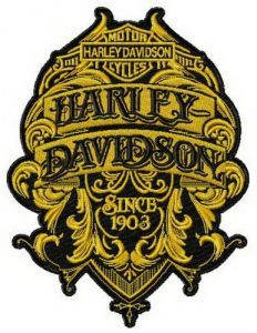 Harley-Davidson since 1903 embroidery design