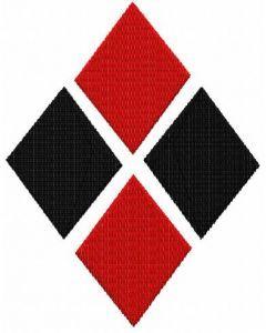 Harley Quinn Diamonds embroidery design