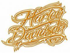 H-D alternative wordmark logo embroidery design