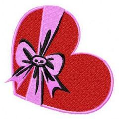 Skelanimals Heart embroidery design