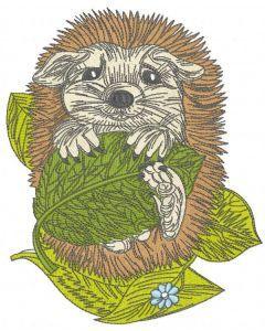 Hedgehog resting 2 embroidery design