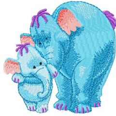 Heffalump and Mom embroidery design