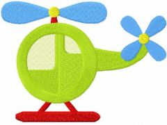 Helicopter toy free embroidery design