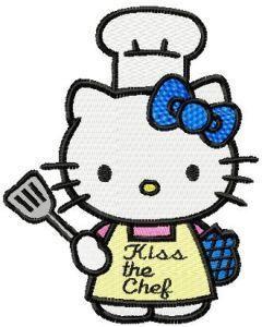 Hello Kitty Chef embroidery design