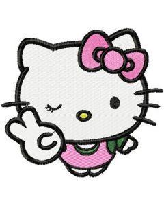 Hello Kitty Joker embroidery design