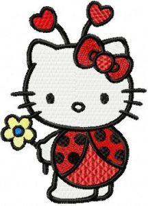 Hello Kitty Ladybug Costume embroidery design