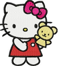 Hello Kitty Puppeteer embroidery design