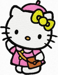 Hello Kitty Weekend Style embroidery design