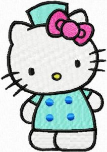 Hello Kitty Welcome! embroidery design