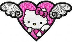 Hello Kitty Angel Wings embroidery design