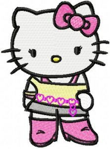 Hello Kitty Forever Young embroidery design