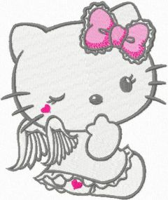 Hello Kitty Angel 1 embroidery design
