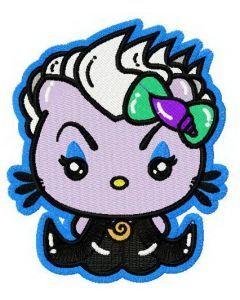 Hello Kitty as Ursula embroidery design