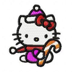 Hello Kitty Christmas embroidery design 1