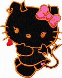 Hello Kitty Demon embroidery design 1