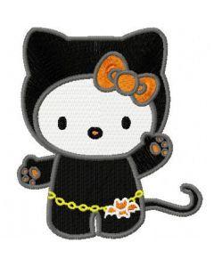 Hello Kitty Halloween embroidery design 2