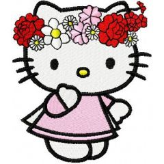 Hello Kitty Spring embroidery design 1