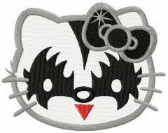Hello Kitty KISS fan embroidery design
