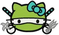 Hello Kitty ninja turtle embroidery design