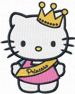Hello Kitty Little Princess embroidery design