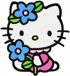 Hello Kitty Summer Day embroidery design