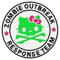 Hello Kitty zombie outbreak response team embroidery design