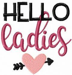 Hello ladies embroidery design
