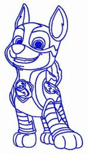 Hero Chase embroidery design