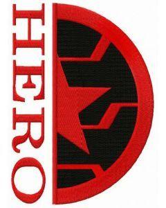 Hero Winter Soldier embroidery design