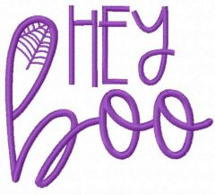 Hey boo embroidery design