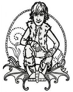 Hiccup Horrendous Haddock III sketch embroidery design