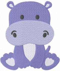 Hippo boy free embroidery design
