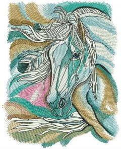 Horse spirit in my dreams embroidery design