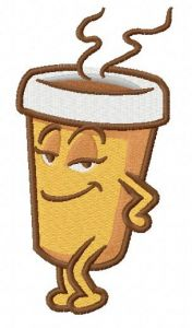 Hot coffee 3 embroidery design